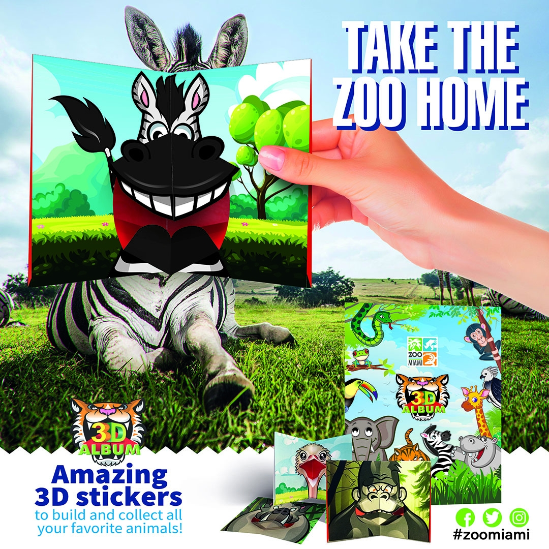 ZOO MIAMI 3D BOOK