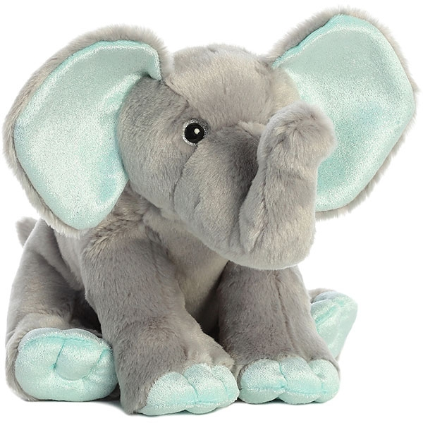 ELEPHANT PLUSH-MINT TRIM