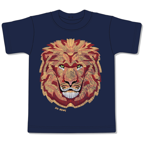 YOUTH SHORT SLEEVE LION CROSSHATCH