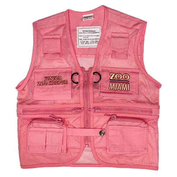 YOUTH VEST JUNIOR ZOOKEEPER - PINK