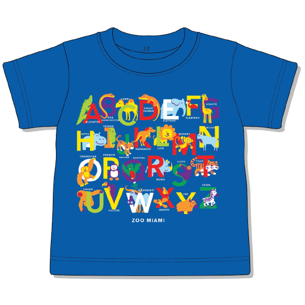 TODDLER SHORT SLEEVE SAFARI ABC