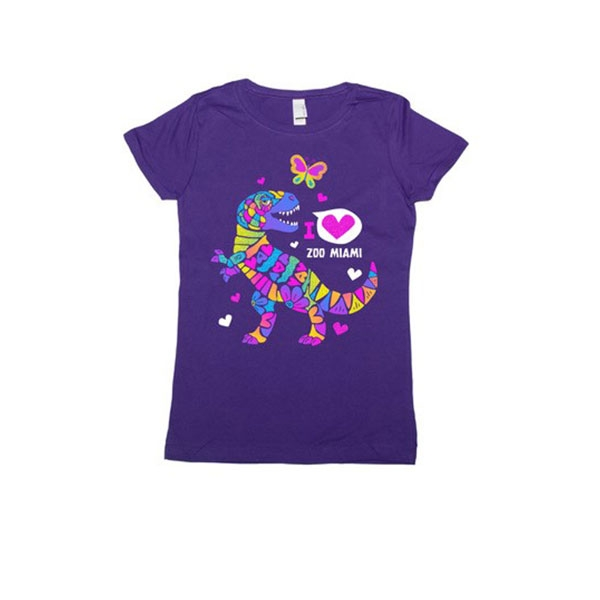 YOUTH SHORT SLEEVE TEE DINO GLITTER BRIGHT