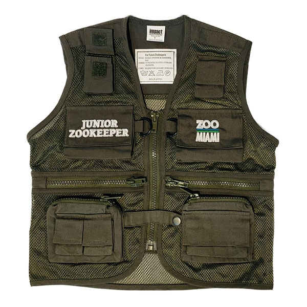 YOUTH VEST JUNIOR ZOOKEEPER - OLIVE