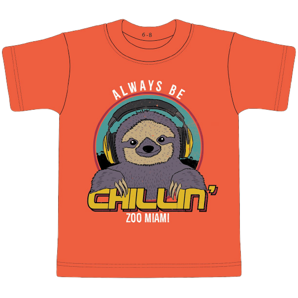 YOUTH SLOTH CHILLIN TEE