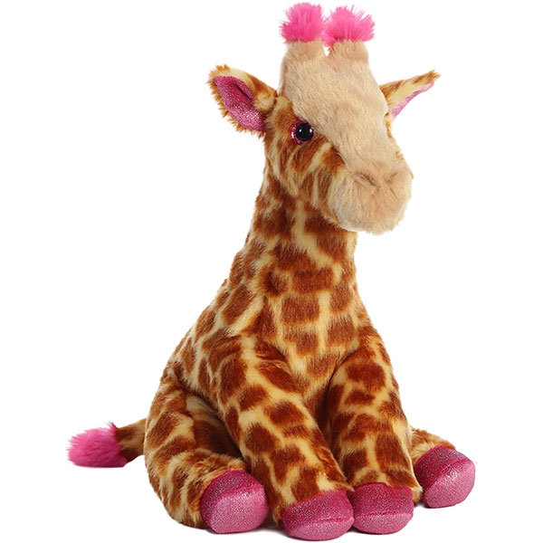 GIRAFFE PLUSH - PINK TRIM