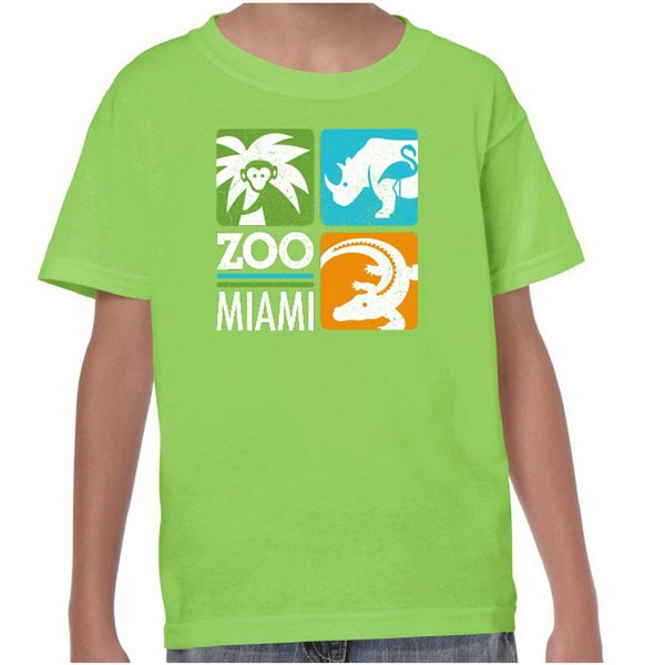 YOUTH LIME SHORT SLEEVE ZOO MIAMI LOGO TEE