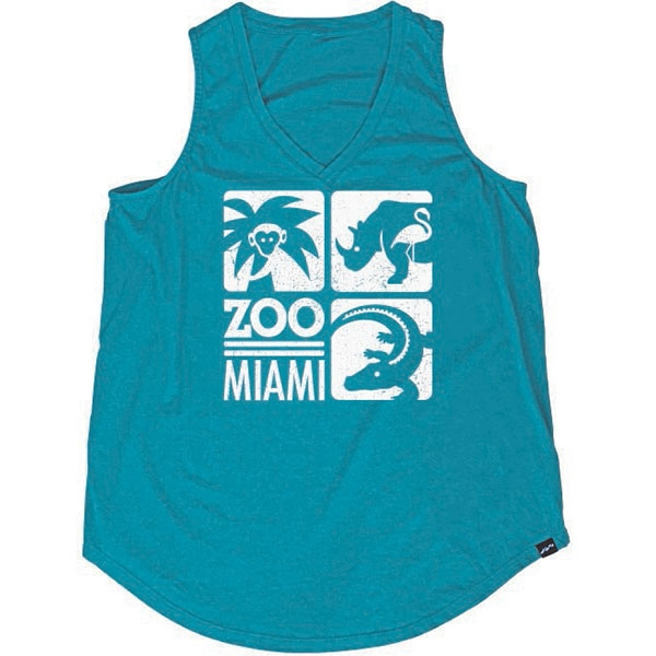 LADIES TANK ZOO MIAMI LOGO