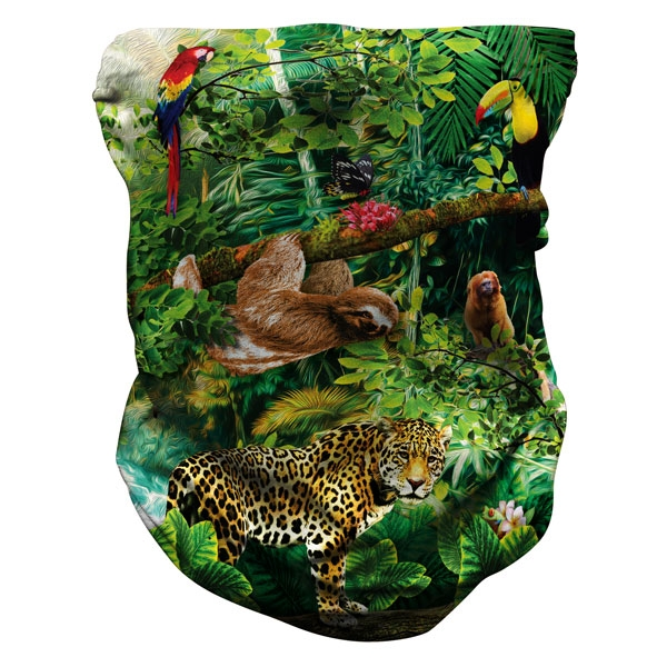 YOUTH RAINFOREST PRINT NECK GAITER
