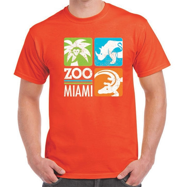 ADULT SHORT SLEEVE ZOO MIAMI LOGO TEE