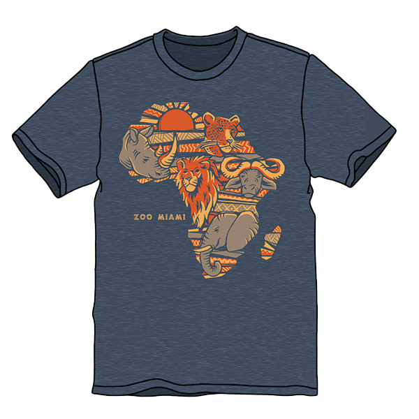 ADULT AFRICAN BIG 5 SHORT SLEEVE TEE