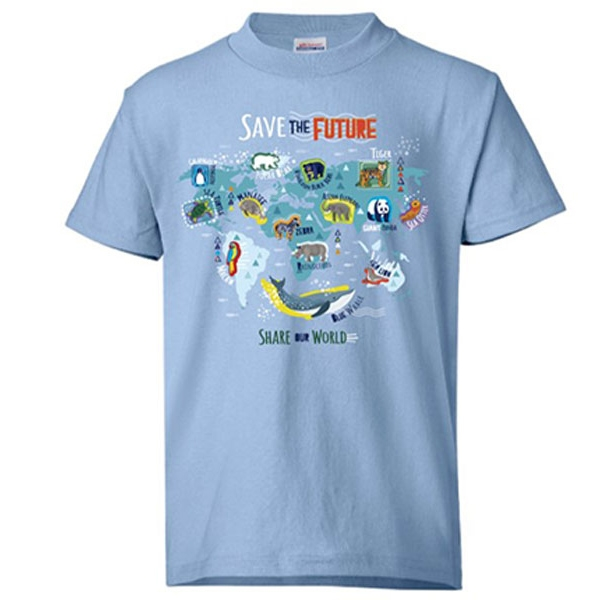 YOUTH SHORT SLEEVE TEE BLUE SAVE THE FUTURE ECO TEE