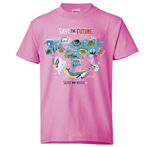 YOUTH SHORT SLEEVE TEE PINK SAVE THE FUTURE ECO TEE
